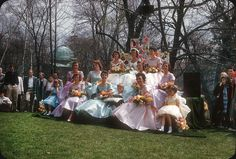 May Court — May Day Allegheny College, Meadville, PA Life In The 1950s, Retro Fashion, Vintage Fashion, People Poses, Finishing School, May Days, Interesting History, Vintage Pictures, Color Photography