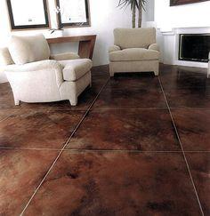 Brown, Faux Tiles Concrete Floors Brickform Rialto, CA
