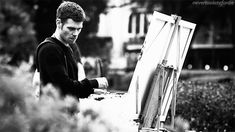 Imagine helping Klaus with a painting