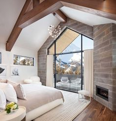 Modern mountain living full of transparency and light in Big Sky, Montana