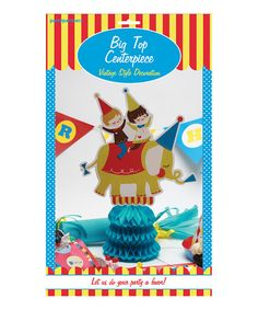 This Big Top Circus Centerpiece by Party Partners is perfect! #zulilyfinds