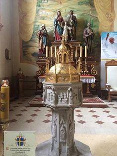 Fr. Donald Calloway's photo - Baptismal font where St. John Paul II was baptized in Poland.