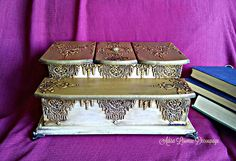 victorian antique jewelry box vintage by Adisa Lisovac Decoupage
