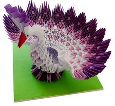 3D #origami This is so colorful and artful