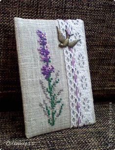 Карточка АТС Вышивка крестом АТС Серия 18 Лаванда Кружево Нитки Ткань фото 3