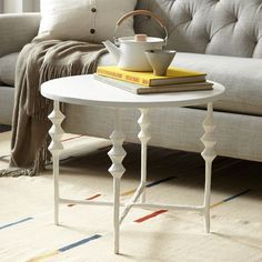 Steven Alan Round Side Table from west elm —handcrafted in Haiti.