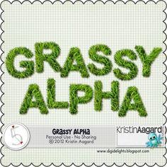Grassy Alpha freebie from Kristin Aagard #scrapbook #digiscrap #scrapbooking #digifree #scrap