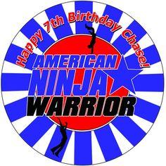 American Ninja Warrior | cakes | Ninja birthday cake ...