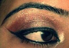My eye makeup... done by me...