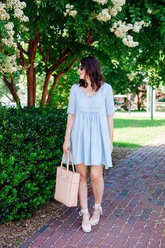 Swingy chambray dress