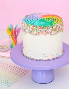 Swirly Rainbow Cake
