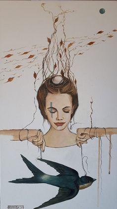 Winds of change, painting , Mariaan Kotze, Acrylic on canvas , symbolic art Symbolic Art, Wind Of Change, South African Artists, Buy Art, Art Ideas, Presents, Symbols, Portrait, Canvas