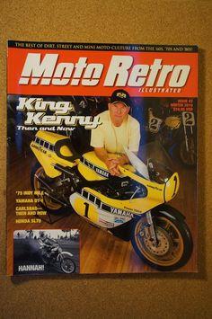 Moto Retro Illustrated Issue 2 King Kenny Roberts Honda SL70 Yamaha DT 1   eBay