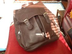 Vintage Authentic COACH Backpack Chocolate Brown Leather by PugMug, $100.00