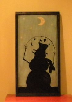 Snowman painting by Wildoaks on Etsy,