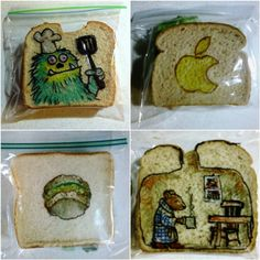 Q&A with David Laferriere, Sandwich Bag Artist and Super Dad