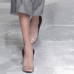 Glossy Sheer heels at Calvin Klein Collection Fall Winter 2017 NYFW. FW17 AW17