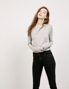 Jersey viscose cropped - Special Prices - Bershka Portugal