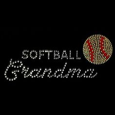 Softball Grandma Rhinestone Women's Long Sleeve Tee OR Sweatshirt Small thru 3XL FREE SHIPPING Sport Game Ball Grandmother Plus Sizes Too by shirtlady on Etsy
