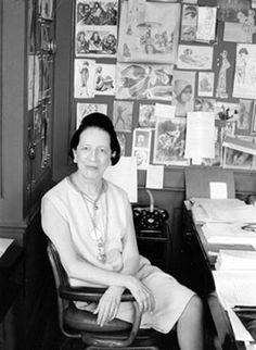 Diana Vreeland in her VOGUE office