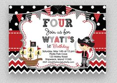 Party invitations diy kids etsy 18 Ideas for 2019 Pirate Birthday Invitations, Birthday Invitations Kids, Printable Invitations, Candy Bar Party, Party Signs, Diy For Kids, Diy Party, Ideas Party, Etsy