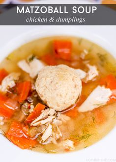 Matzo Ball Chicken And Dumpling Soup Recipe
