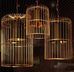 Bird Cage Pendant Light Chandelier #Bird-Cage #Cage-Light #Ceiling-light