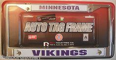 Minnesota Vikings Chrome Automobile License Plate Frame Visit our website for more: www.thesportszoneri.com