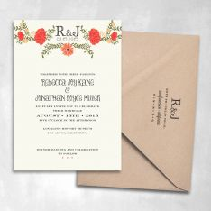 Petite Jardin Wedding Invitation If we could lighten the flowers that would be perfect