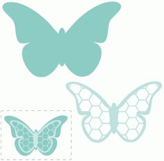 Silhouette Design Store - View Design #61692: hexagon layered butterfly