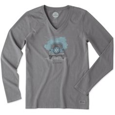 Women's Go Places Tire Cover Long Sleeve Crusher Vee | Life is Good® Official Site Size Large