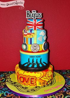 Excellent Image of Beatles Birthday Cake . Beatles Birthday Cake Beatles Birthday Cakesweet Cakes Rebecca I Have 2 Friends Who Beatles Party, Beatles Cake, The Beatles, Bolo Dos Beatles, Vegan Wedding Cake, Cake Wedding, Gold Wedding, The Fab Four, Specialty Cakes