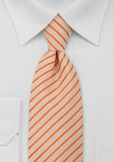 Tie in Orange and White