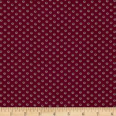 Monet Rayon Shirting Shadow Dots Maroon