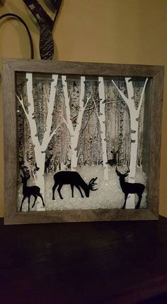 Diy Christmas Shadow Box, Christmas Art, Christmas Photos, Christmas Projects, Christmas Birthday, Shadow Box Kunst, Shadow Box Art, Shadow Box Frames, Arte Assemblage