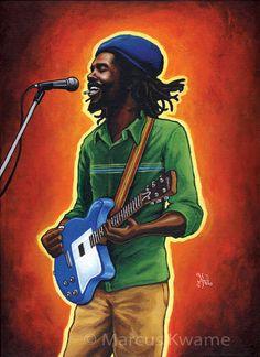 Peter Tosh Equal Rights print by MarcusKwame on Etsy Reggae Style, Reggae Music, Kingston, Rasta Art, Marley Family, Dennis Brown, Peter Tosh, Reggae Artists, Robert Nesta
