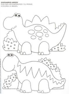 Resultado de imagen para CUADERNO DE APRESTO Dinosaurs Preschool, Dinosaur Activities, Dinosaur Crafts, Preschool Writing, Preschool Curriculum, Preschool Activities, Printable Preschool Worksheets, Tracing Worksheets, Worksheets For Kids