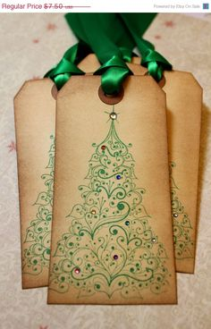 vintage Christmas tags ~ these are the things that make me want to start stamping!