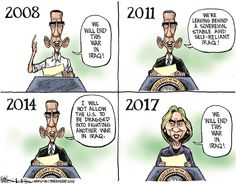 A Kinser comic from just about a month ago that describes how long we have been talking about ending this war in Iraq and how long it may take to end it.