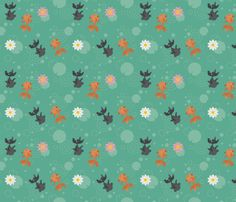 goldfish fabric, wallpaper, gift wrap, and decals - Spoonflower