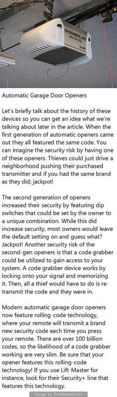 Security issues with Garage Door Openers