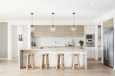 Minimal yet Elegant Kitchen Design Ideas - The Architects Diary - - Minimal Kitchen Design Inspiration is a part of our furniture design inspiration series. Minimal Kitchen design inspirational series is a weekly showcase. Kitchen Decorating, Home Decor Kitchen, Kitchen Living, New Kitchen, Home Kitchens, Kitchen Ideas, Kitchen Modern, Awesome Kitchen, Kitchen Furniture
