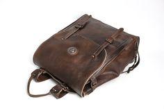 Image of Handmade Full Grain Leather Backpack, Travel Backpack, Rucksack 9036