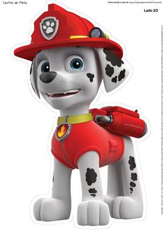 Paw Patrol - Meet the characters from the Nickelodeon hit show for preschoolers, Paw Patrol.: Marshall from Paw Patrol Po Patrol, Paw Patrol Png, Paw Patrol Cake, Paw Patrol Party, Paw Patrol Marshall, Marshall Paw Patrol Costume, Paw Patrol Birthday Cake, Boy Birthday, Personajes Paw Patrol
