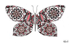 Mandala Butterfly by Splund-Art.deviantart.com on @DeviantArt