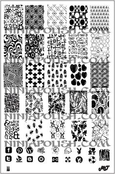 MJ 3 nail stamping plate found here:  http://www.ninjapolish.com/product.php?productid=18301=419=1