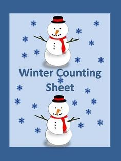 FREEBIE! Here is a winter counting activity worksheet. Students count the winter objects and write the number on the provided line.