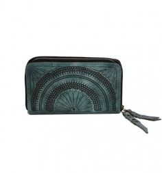 Leaders In Leather Morrocan Wallet Aqua Leadersinleather