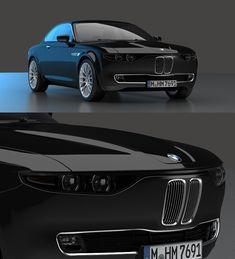 BMW CS Vintage Concept Coupe Sports Cars The industrial designer David Obendorfe… Jaguar, Peugeot, Benz, Mustang, Bmw E9, Audi, Bmw Classic Cars, Lamborghini, Recipes