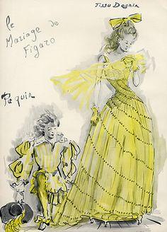 Paquin 1944 Ce Soir on Joue...Le Mariage de Figaro, Christian Berard